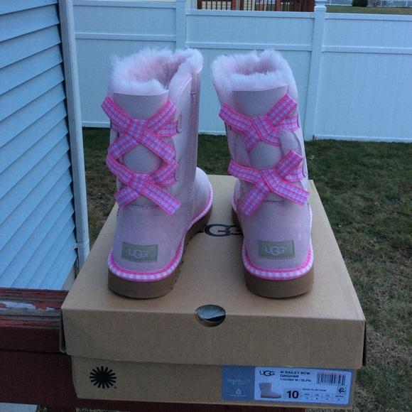 ebcad945072 UGG Shoes | Bailey Bow Gingham | Poshmark